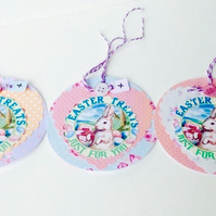 Easter Themed Gift Or Message Tags,Pack of 3, Handmade Easter Gift Tags
