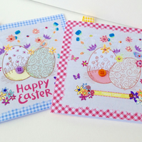 Easter Cards Four PK,Vintage Spring Theme,Handmade,Personalised