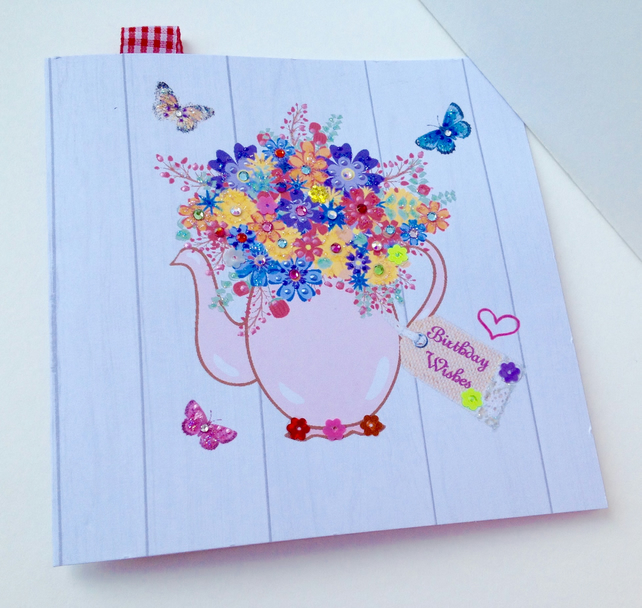 Outstanding Birthday Card Greeting Card Handmade Can Be Per Folksy Personalised Birthday Cards Veneteletsinfo