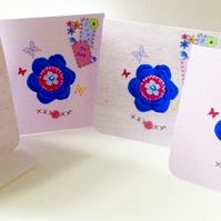 Set of Four Notecards, 'Pretty Things' Blank Notecards with Envelopes,
