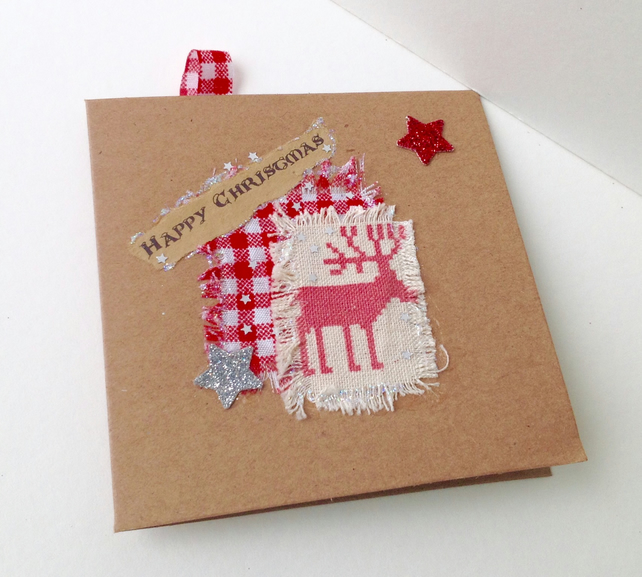 Christmas Cards,Collage Design,Pack Of Six,Handmade,Personalised