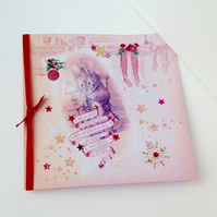 Christmas Cards,PK of Five,Handmade 'Twas the Night Before Xmas'personalised