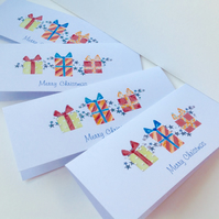 Christmas Cards,Five Pack,'Xmas Parcels'Handmade,Personalised