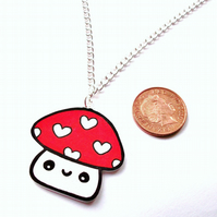 Mushroom Necklace SALE 50% OFF