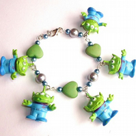 Toy Story Little Green Aliens Bracelet