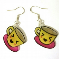 kawaii teacup earrings