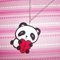 Panda & Heart Necklace