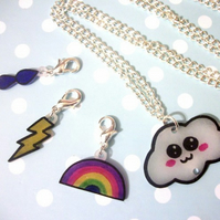 Kawaii Mood Weather Clouds ~ 4 Necklaces in 1