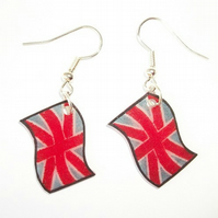 Patriotic Union Jack Flag Earrings