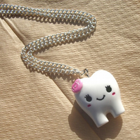 Kawaii Tooth Charm in Pink