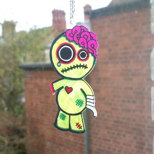 Sad Zombie Necklace