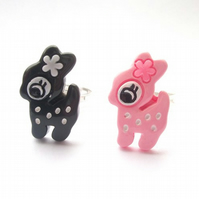 Kawaii Pink or Black Deer Ring Pay It Forward PIF