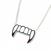Vampire Fangs Necklace