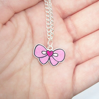 Tiny Bow Necklace any colour! Pay it forward PIF