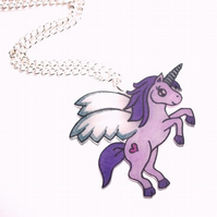 Purple Magical Unicorn Necklace