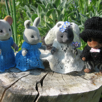 Wedding pattern for Sylvanian Families toys dolls, for Wedding decor -  PDF