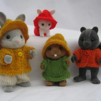 'Rustic' knitting pattern for Sylvanian Families PDF