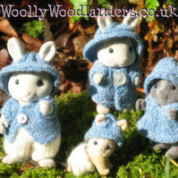 'Rustic' knitting pattern for Sylvanian Families 1.5mm, 2mm needles, thin yarn