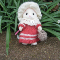 Knitting pattern - Going to Market - for Sylvanian Families by PDF - FolkGoi