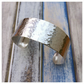 Dappled - 20mm wide sterling silver cuff