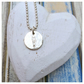 Always Near - handstamped sterling silver pendant