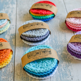 Face Scrubbies.Reusable Eco Friendly replacement for Make Up Pads.100% Cotton.