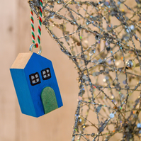 Cottage Wooden Tree Hanger.Wooden Home Decor.Many colour options.