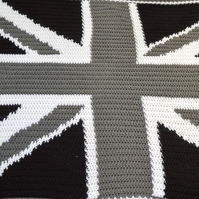 Patriotic National Flag Crochet Baby Blanket.Choose size from Lovey or Pram.