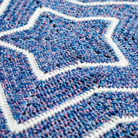 Star Shaped Crochet Baby Pram Blanket.95cm x 95cm.Choose from 39 Colour Options.