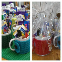 Mug Bouquet End of Term Teachers Gift.Stationary.Sweets.51 Colours.100% Cotton.