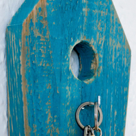 Birdhouse Key Holder.Wooden Home Decor.Shabby Chic.Rustic Retro Vintage