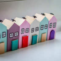 Cornish Country Cottage Ornament.Wooden Decor Handmade to Order in Cornwall.