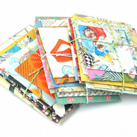 10 x Mixed New and Vintage Handmade Envelopes for Junk Journals, Scrapbooking