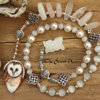Owl Goddess Minerva Prayer Beads