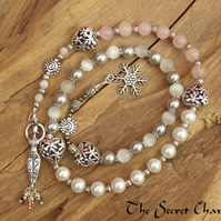 Winter Goddess Nicneven Prayer Beads, Winter Solstice