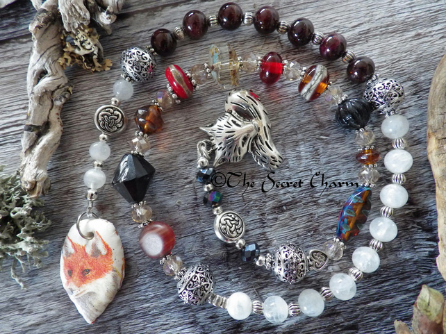 Totem Fox Prayer Beads, Wiccan Rosary