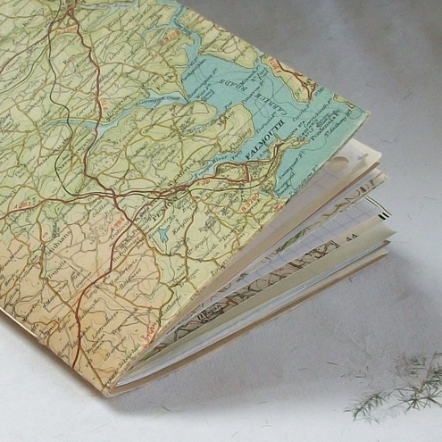 vintage map waste-not journal