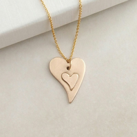 Two Love Hearts Pendant Necklace