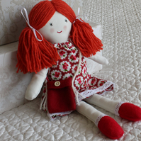 Rag Doll, handmade fabric doll