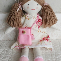 Rag Doll, handmade fabric doll, traditional doll, forever doll