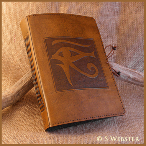 A5 Eye of Horus Hand Bound Leather Journal