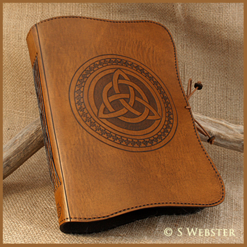 A5 Celtic Triquetra Hand Bound Leather Journal