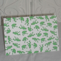 GREETINGS CARD - IT'S RAINING FROGS!