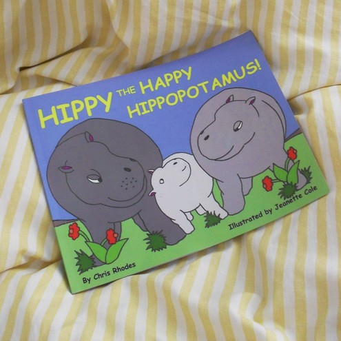 Hippy the Happy Hippopotamus! Children's book about hippos  Free postage in UK