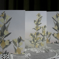 Three greetings cards - Yellow Loosestrife