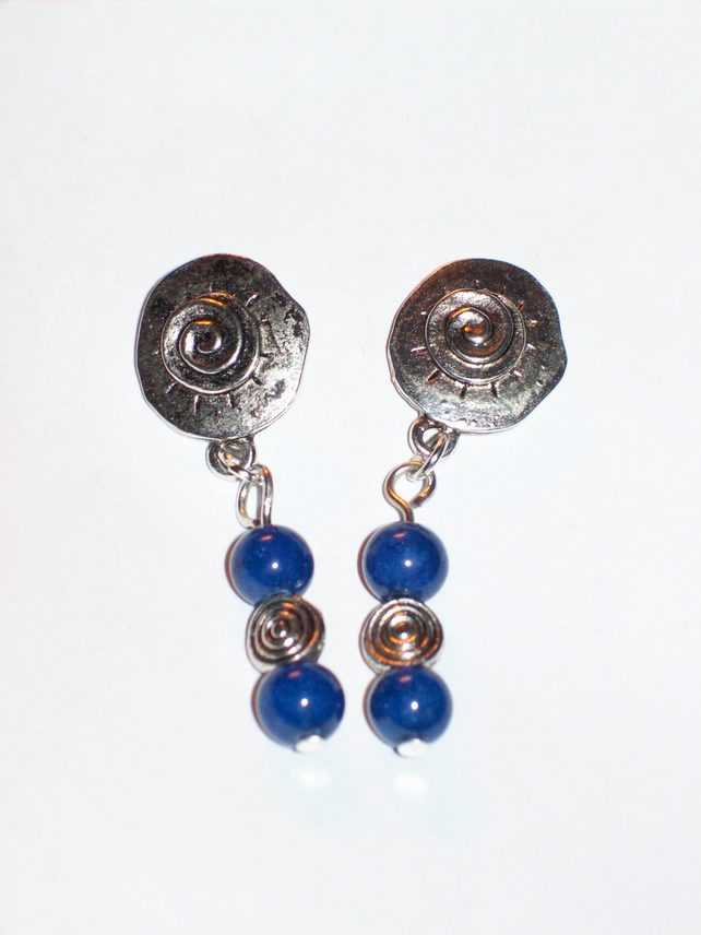 Midnight Swirl Drop Earrings