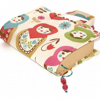 Book Cover Bag Matryoshka Dolls Cream
