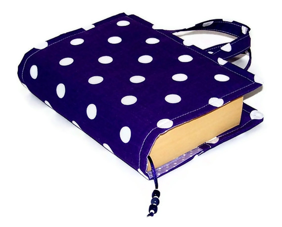 Book Bag Cover Purple Polka Dots