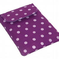 Ipad Mini Cover PURPLE PLUM POLKA DOTS