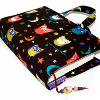 Owls Book Cover Bag Large